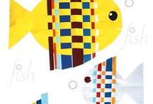 Fish Art Projects for Kids / Art projects that involve designing and decorating fish. Fish Patters, Fish Art Projects, Drawing Fish, Fish with Feelings, School of Fish, Fish Crafts