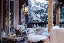 Winter Garden Inspiration / This winter, don't neglect your patio or backyard! Even if you live on the East Coast, you can still decorate and enjoy your outdoor living room with LandscaperOutlet.com's suggestions. http://bit.ly/1mpH9hl