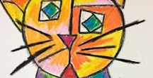 Paul Klee / Art Lessons that explore the work of Paul Klee. Bauhaus, Color Theory, Klee with Kids, Klee Cats, Klee Castles, Twittering Machine, Klee Portraits