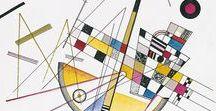 Kandinsky / Wassily Kandinsky, Art Projects about Kandinsky, Kandinsky's Art, Abstract Art by Kandinsky, Abstract Art Lessons, Kandinsky for Kids