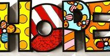 Romero Britto / Artwork and art lessons by Romero Britto. Pop Art, Britto Art Lessons, Patterns in Art