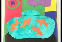 Henri Matisse / Henri Matisse for Kids - Collage - Biography - Art Lessons - Paintings - Drawings - Art Activities - Art History Lessons - Drawing with Scissors - Cut Outs -