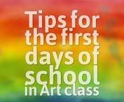 Back to School / Art Lessons that are great to do on the first day of art.  First Art Class, Ice Breakers in Art Class, What to Talk about on the First Day of Art, Getting to Know your Art Students