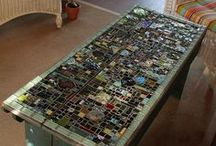 Mosaic and Stained Glass Furniture