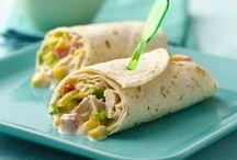 Wrap it ~ eat it! / Wrap ideas for healthy lunch.