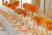 Orange Wedding Theme Ideas / orange wedding theme with turquoise & teal touches a great summer beach theme ideas & also wonderful Autumn fall ideas too.