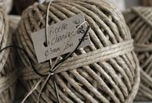Twine, hemp, string / These are a few of my favorite things...