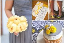 Grey & Yellow Wedding Theme Ideas / Grey & Yellow Wedding Theme Ideas with lovely receptions ideas with birdcages vintage touches and a little bit of lace. Gorgeous wedding headband tiaras & wedding hair combs & hair styles