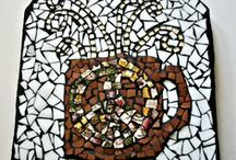 Art by EarthMotherMosaics / Handmade Mosaics, Home Decor and Art ~ All items are handmade using recycled materials whenever possible. Broken dishes, jewelry, rocks, shells, buttons all become part of the art experience in my mosaics. My favorite medium to make mosaics with is stained glass. I love the way it looks on vases and candle holders, art pieces and useful art. ~ Message me with questions, for additional information and shipping costs.