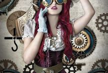 """)-(  my alter ego...steampunk  )-( / The best way I have heard it described: """"It is not so easy to define steampunk but it's easy to recognize. Steampunk is basically a mixture of science fiction and victorian aesthetics. A pretend world where electricity and modern technology does not exist but rather, everything is powered by mechanics and steam power. There is a big emphasis on hand made machines and artisan work"""""""