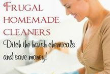 Homemade Cleaners / Save money and ditch the harmful chemicals with these homemade cleaners.