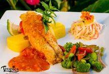 Dinner Menu started October 2014 / Dinner menu with Chefs Tanner Dunlop and Tjeerd Abma at Tropics Cafe, Saba Dutch Caribbean