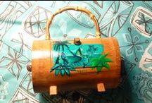 Handbags / Sophista-tiki handbag lines. cocktail party hand bags, Havaiki handbags,  ansd custom, hand painted box purses