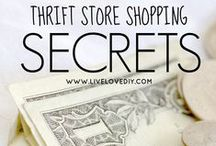 Thrift Shopping Tips / Want to find hidden thrift store treasures? This board holds the secrets to thrift shopping success!