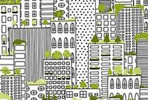 City Life / Designed by Alicia Jacobs-Dujets for Ink & Arrow Fabrics