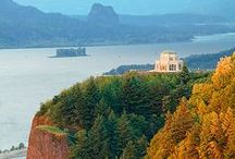 """Columbia River George / From Troutdale through the rich Columbia River Gorge. On the highway, the """"Old Columbia River Scenic Highway,"""" Hood River, """"The Fruit Loop,"""" & the Dalles. / by Susan M"""