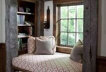 Reading and Writing Nooks / Curl up with a good book or pen your own