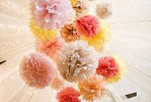 {pom pom delight} / lots of fun creations to brighten up the ceiling