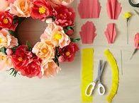 Papier DIY, paper DIY / Knutselen en decoreren met papier, doityourself with paper- paper love- diy paper