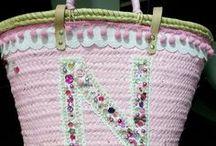 DIY bags / Idea's for decorate a bag- diy pimp je tas- ibiza bag- ibiza tas- tassen pimpen