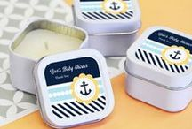 Ahoy! It's a Boy! Nautical Baby Shower Theme Ideas / Lots of great nautical theme ideas for a boy baby shower. Diaper cakes, baby shower favors, fun games, food and decoration ideas!