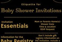 Invite them in style - Trendy Baby Shower Invitations / Find the latest trends in baby shower invitations. We offer 15% off MSRP on our trendy baby shower invitations. Great ideas for baby boy or girl showers.