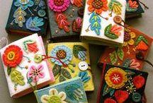 Felt folklore / felt folklore- Vilt folklore- inspiratie om decoraties te maken met vilt en borduren