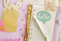 {planner} / pretty little planners to keep my days organized