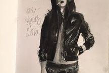the strokes / fashion illustration