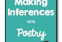 Read between the lines. / Inferencing activities.