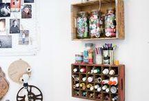 Craft room / Inspiratie craftroom- atelier- craftstudio- inrichting- ideas craftroom- art studio