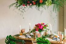 Table setting tropical / tafel dekken thema tropisch- styling events- table settings- tafel decor- tropical