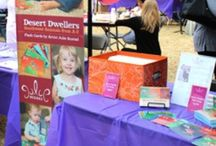 Fun giveaways and booth ideas / Examples of booth design and giveaways for art shows and festivals.