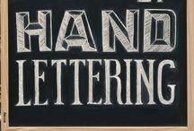 Lettering / Hand lettering, stencil work, etc.