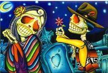 Day of the dead/skulls / by Gloria Renteria