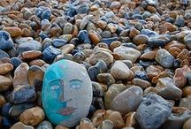 Ideas: People Painted Rocks / Ideas and tips for painting people, figures, dolls and other types of folks on rocks / by Cindy Thomas Rock Painter