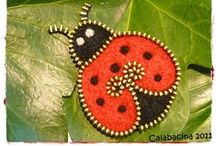 Zipper and Bead Art / Zipper and Bead art ideas for painted rocks