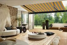 Garden awnings / Will you be entertaining guests this summer? Amaze them with a gorgeous awning for your garden.