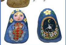Ideas: Matryoshka Painted Rocks / Inspiration and patterns for Matryoshka dolls painted on rocks. The artwork on this board is the property of each individual artist. Please ask permission to use any artwork seen on this board unless it is a tutorial.