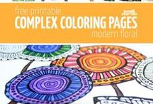 Color Yourself Calm / Reducing stress and achieving calmness by coloring book pages.