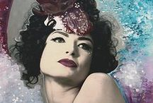 Artwork by Sequoia Emmanuelle / Striking photographs with artistic embellishments by Sequoia Emmanuelle.