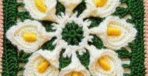 Yarn - Squares / Crochet square motifs, charts, patterns