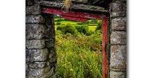 Irish Doors & Windows / A collection of composite images featuring ancient Irish doors & windows with spectacular present-day views by James A. Truett. All images are available as posters and prints at https://MoodsofIreland.Com