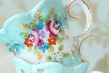 In the China Cabinet / Pretty Dishes and Glass ware / by Carin Cook Griggs