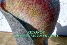 SOMBREROS / Confeccionados en fieltro,con la tecnica de amasado sobre molde,con detalles de bolitas, rastas y flores