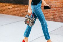 Casual Chic Look Ideas / Casual style, masculine style, feminine style, bohemian style, street style, boyfriend jeans, mom jeans, 80s style, vintage style, embroided jeans, oversized shirt,