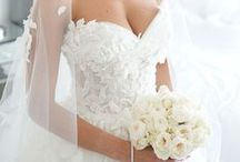 "Weddings | Wedding Dress / ""Bride: A woman with a fine prospect of happiness behind her."" - Ambrose Bierce"