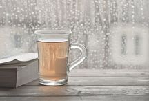 Tea in winter times / Enjoying tea in winter is so romantic..