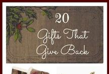 Gifting / Giving is good for the soul. Giving is a privilege. Giving reflects God's generous nature and is a response to his goodness to us. Here are ideas for blessing others with meaningful gifts.