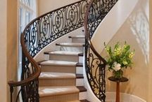 "Homes | Staircase / ""Where we love is home - home that our feet may leave, but not our hearts."" - Oliver Wendell Holmes"